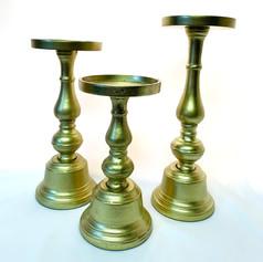 gold pillar candlesticks