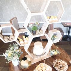 beehive dessert stand
