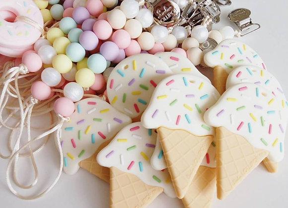 Loulou LOLLIPOP - Ice Cream Teething Clips