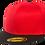 כובע מצחייה ישרה - אדום / שחור