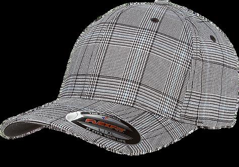 כובע אלגנטי משובץ אפור