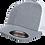 כובע אפור רשת לבנה - ללא סוגר