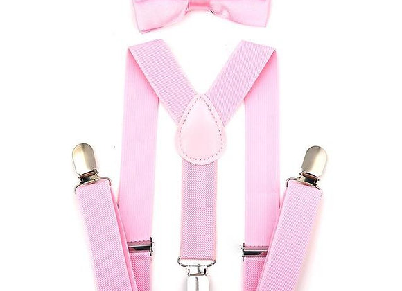 Light Pink Suspenders/Bow Tie