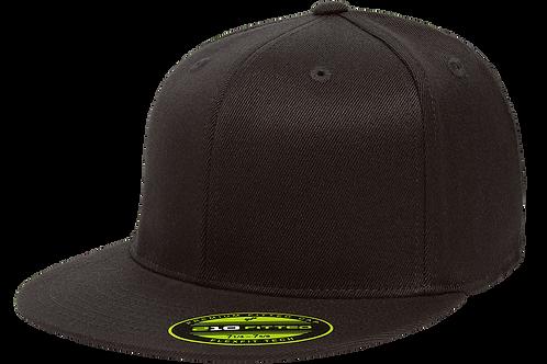 כובע ראפר מצחייה ישרה ללא סוגר - שחור