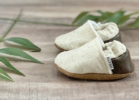 TBMS Cream and Brown Moccs