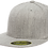 'כובע ראפר מצחייה ישרה ללא סוגר - אפור מלאנג