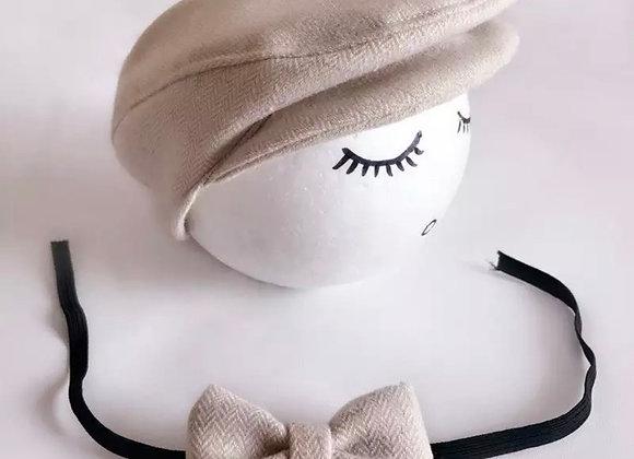 Newborn Hat and Bow Tie Set