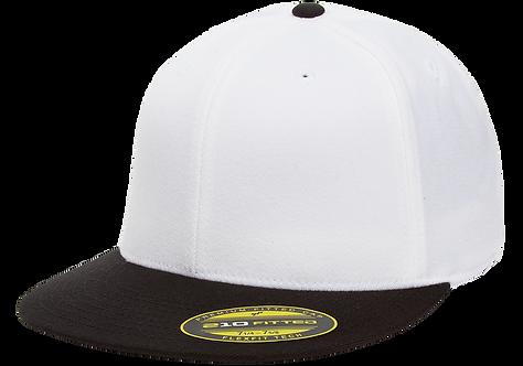 כובע מצחייה ישרה - לבן / שחור