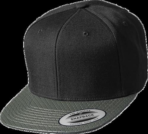 כובע מצחייה ישרה  - קסקט מחורר זית
