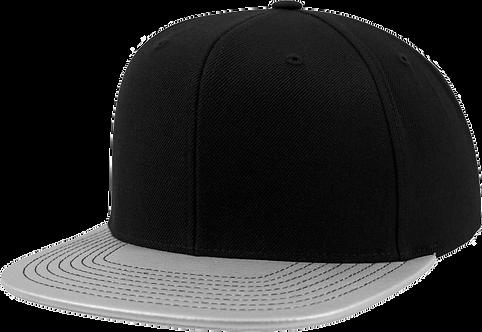 כובע מצחייה ישרה - קסקט מטאלי
