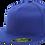 כובע ראפר מצחייה ישרה ללא סוגר - כחול רויאל