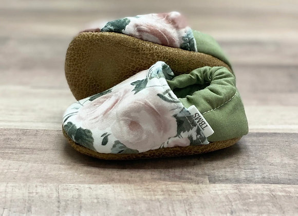 TBMS Green Floral Moccs