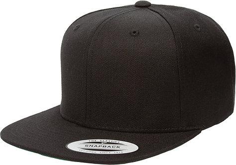 כובע מצחייה ישרה שחור