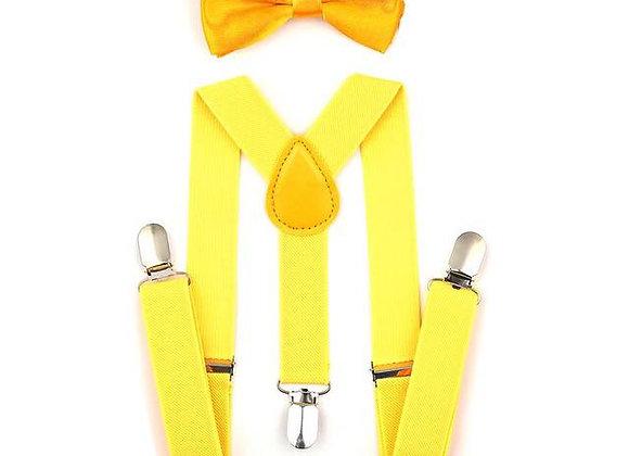 Yellow Suspenders/Bow Tie