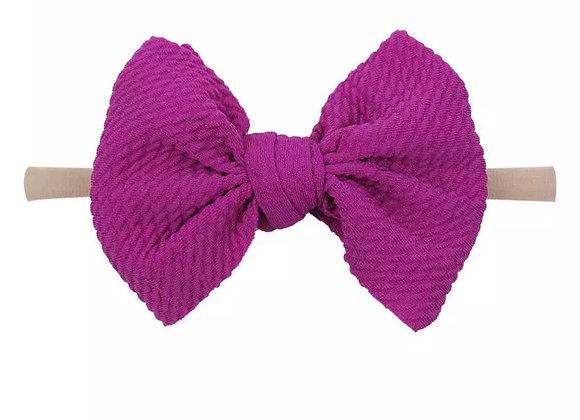 Nylon Band Headbands — Pink & Purple
