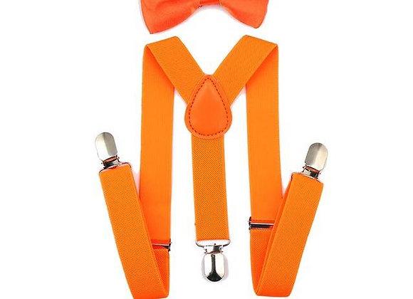 Orange Suspender/Bow Tie