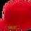 כובע ראפר מצחייה ישרה ללא סוגר - אדום