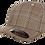 'כובע אלגנטי משובץ בז