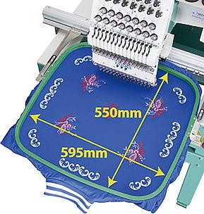 מכונת רקמה - מקסימום שטח