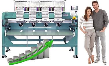 מכונת רקמה תעשייתית ממוחשבת