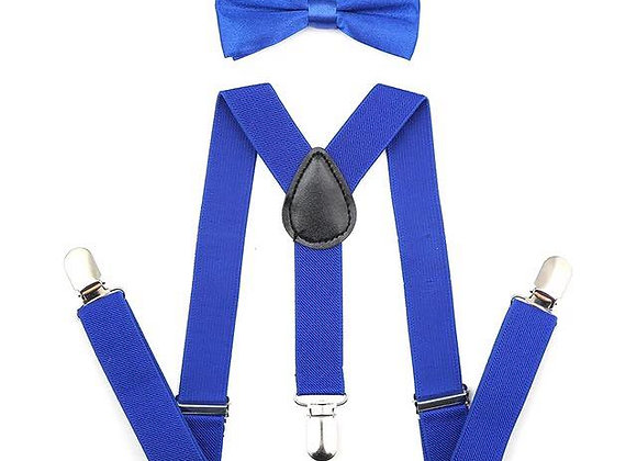 Royal Blue Suspenders/Bow Tie
