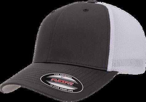 כובע רשת אפור פחם/לבן