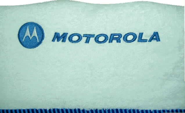 רקמה על מגבת