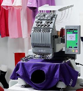 מכונת רקמה - רקמה על חולצות
