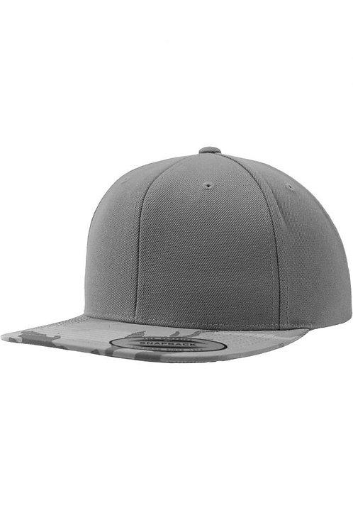 כובע מצחיה ישרה - צבעי הסוואה אפורים