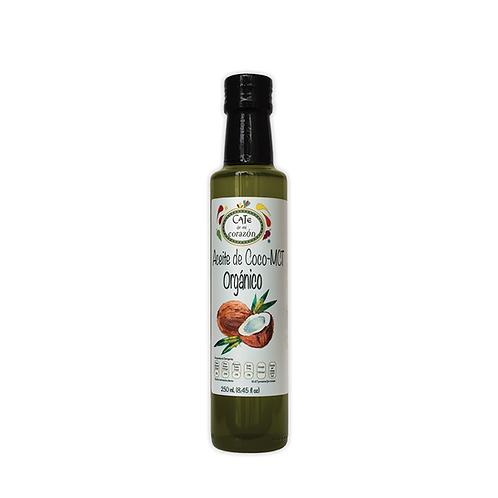 Aceite Comestible Orgánico de Coco MTC  250ml