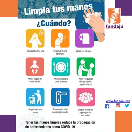 ¿Cuándo limpiar tus manos? La prevención es importante ¡cuidémonos!