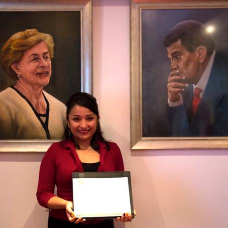 """Ganadora de la beca """"José Ortega Romero y Teresa Martínez de Ortega 2019-2021"""""""