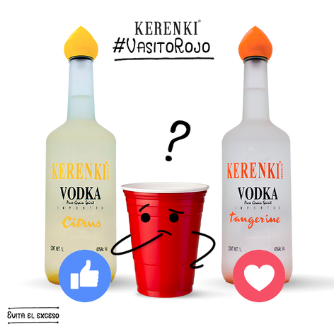 Ayúdalo a decidir ... #KerenkiVodka #VasitoRojo