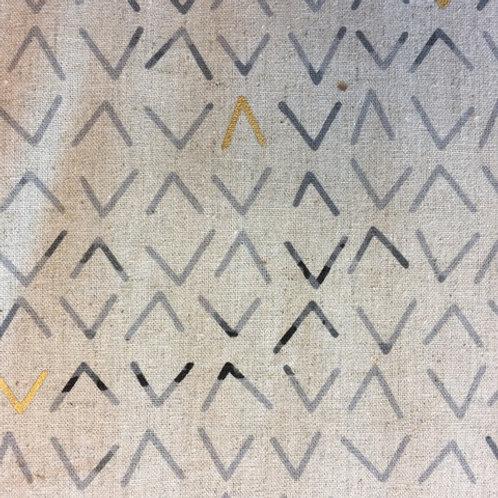Mochi Linen by Zen Chic for Moda - charcoal ( Half Metre)