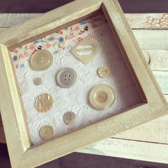 Mother of Pearl Abstract Button Art