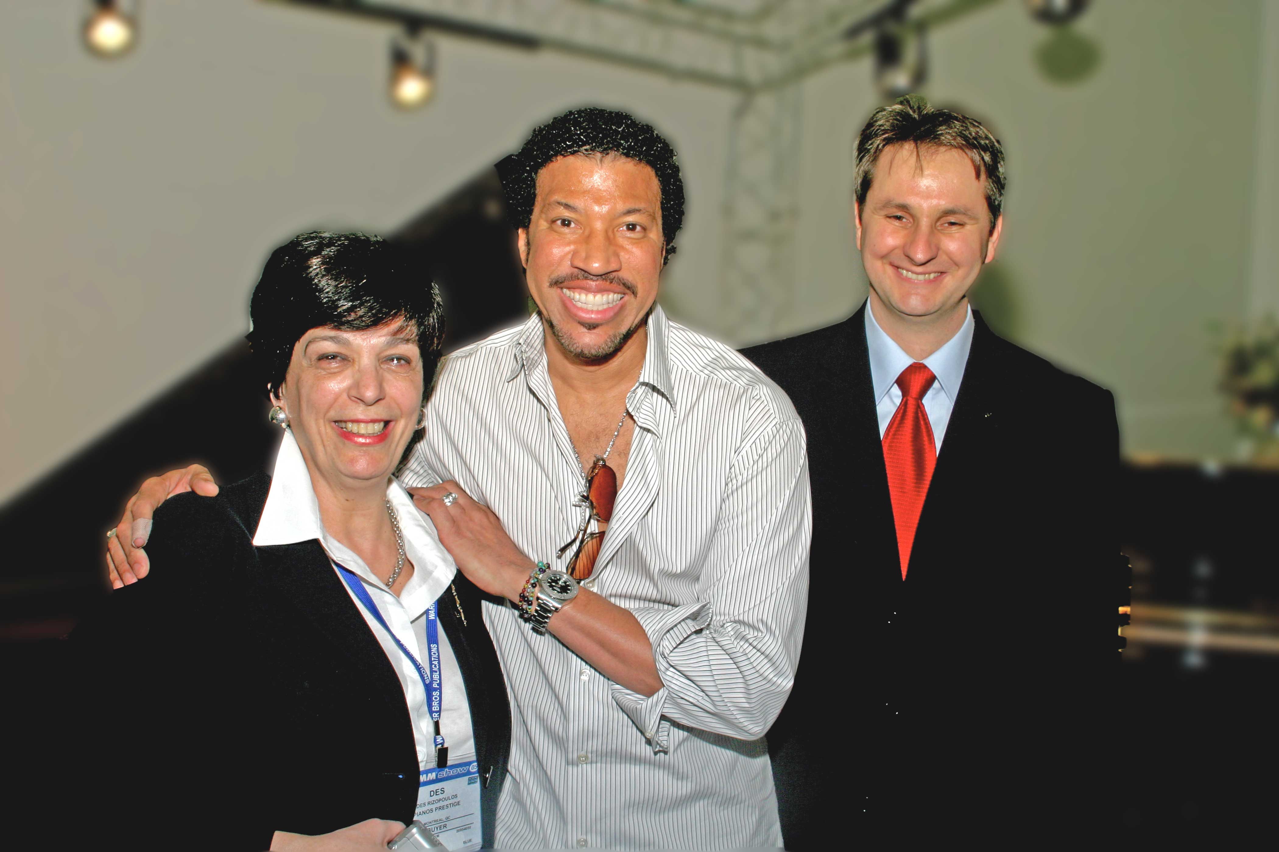 with Lionel Richie and Vasillios St