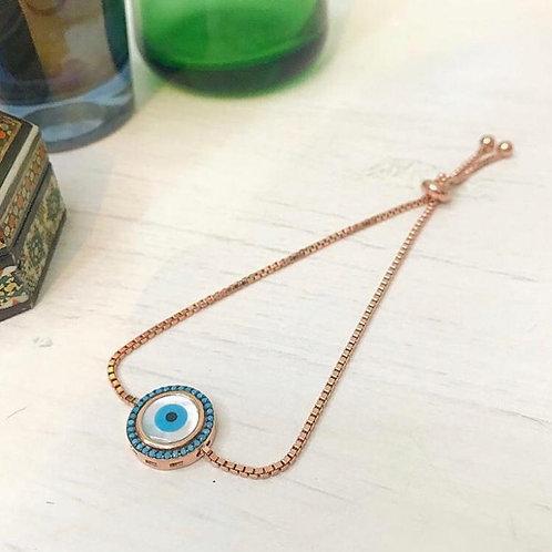 Evil Eye Box Chain Bracelet