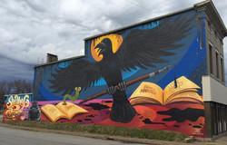 Wilfred E. Sieg III - Louisville crow mural 1