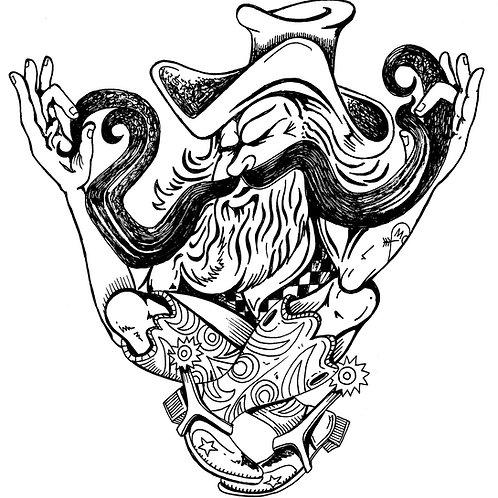 Moustache Twister Print