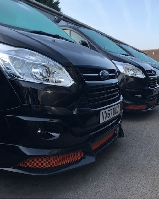 Front splitter (RS) Ford Transit Custom
