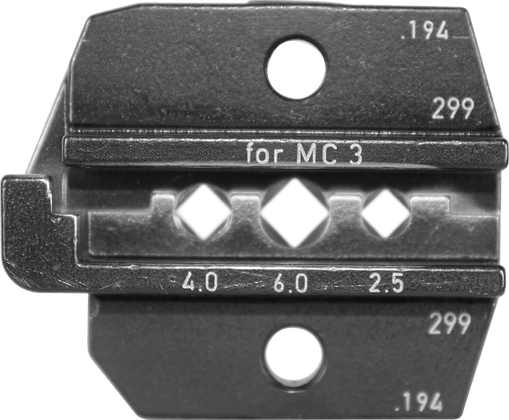 Crimp Die Set for MC3 (14,12,10, AWG) Solar Contacts