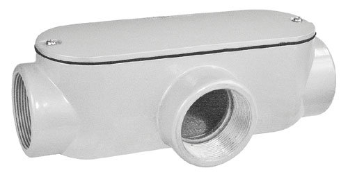 EMT Threaded Conduit Body T Style (gray) with Gasket