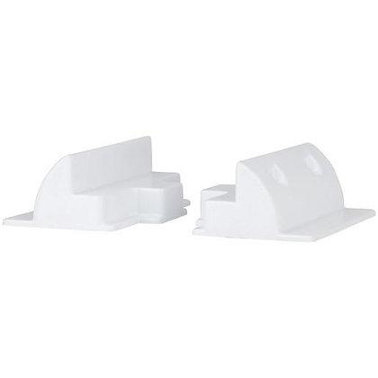 (White) Universal ABS Solar Panel Side Mounts