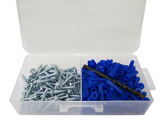 "Anchor Kit #8 Zinc Drywall Anchor Kit #8 x 1 1/2"" 100pc Kit"