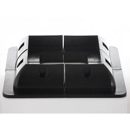 (Black) Universal ABS Solar panel corner mounts