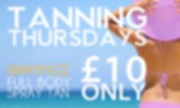 TANNING THURSDAYS - Full Body Sienna X Spray Tan £10