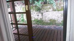 quarto de casal fundos - varanda