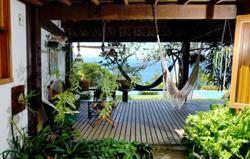 Varanda e jardim interno