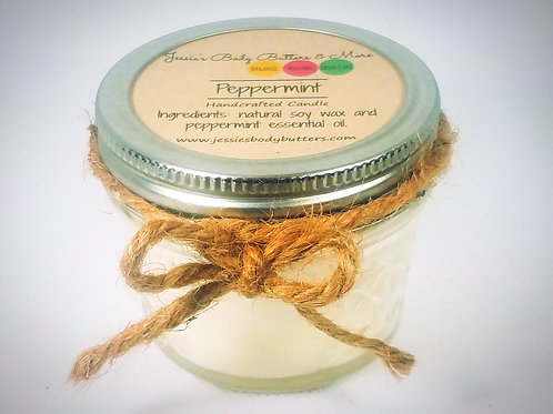 4 oz Soy Candle-Peppermint