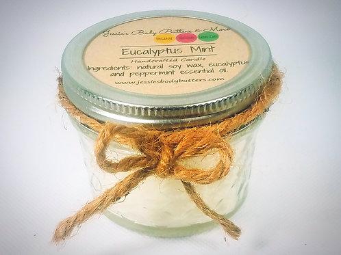 4oz Soy Candle- Eucalyptus Mint